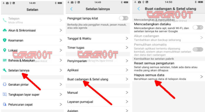Cara Reset HP Vivo via Pengaturan