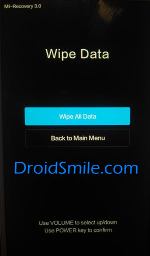 wipe all data Redmi 4 Prime