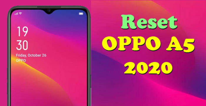 reset oppo a5 2020